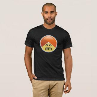 Camiseta T-shirt Excited de Emoji do turbante de Guru da