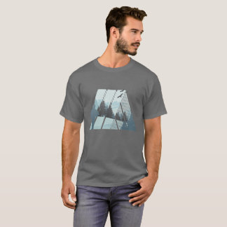 Camiseta T-shirt exterior da caça da vida dos homens