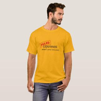 Camiseta T-shirt falhado da experiência