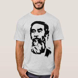 Camiseta T-shirt farpado do retrato de Saddam Hussein