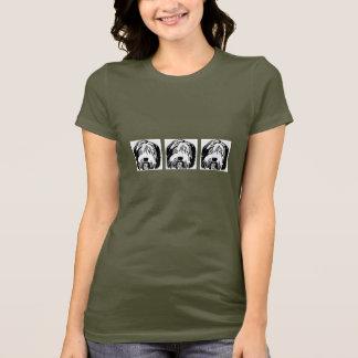 Camiseta T-shirt farpado dos desenhos animados do Collie