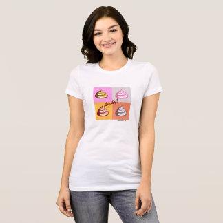 Camiseta T-shirt favorito afortunado do jérsei de Poo