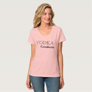 Camiseta T-shirt favorito da bebida do arando da vodca