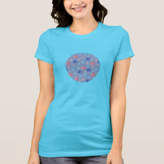 Camiseta T-shirt favorito do jérsei das mulheres chinesas