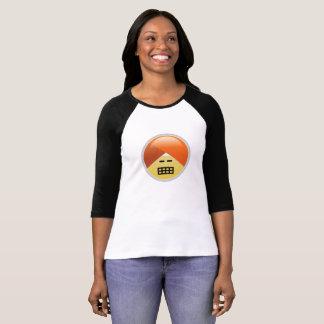 Camiseta T-shirt fazendo caretas de Emoji do turbante de