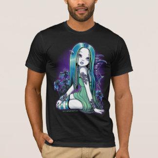 Camiseta T-shirt feericamente da arte de Lilly da lua