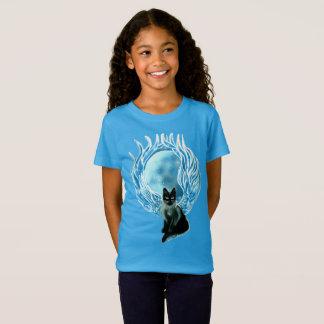 Camiseta T-shirt feericamente do gato da deusa da lua