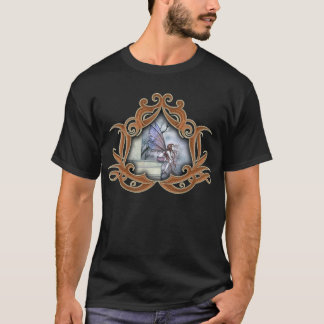 Camiseta T-shirt feericamente gótico da arte da fantasia