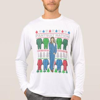 Camiseta T-shirt feio da camisola do Natal da nação do
