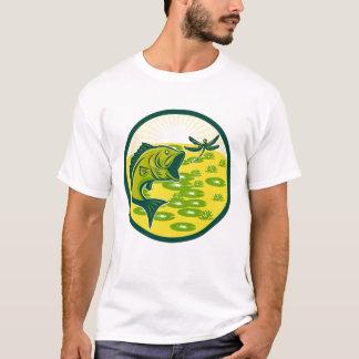 Camiseta T-shirt feito sob encomenda do baixo Largemouth