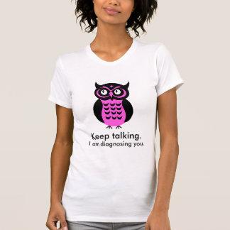 Camiseta T-shirt feito sob encomenda do texto da coruja