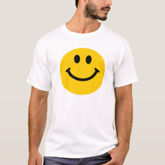 Camiseta T-shirt feliz amarelo do smiley face