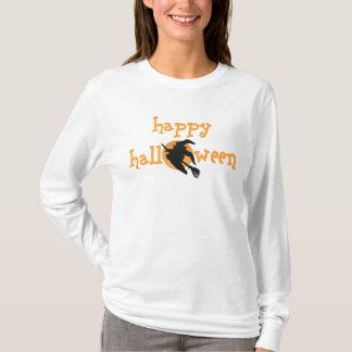 Camiseta T-shirt feliz da bruxa do Dia das Bruxas