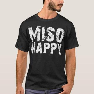 Camiseta T-shirt feliz da sopa de Miso do 味噌汁 do MISO