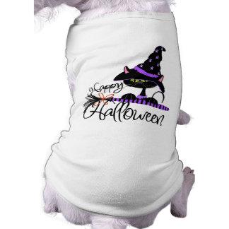 Camiseta T-shirt feliz do cão do Dia das Bruxas