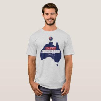 Camiseta T-shirt feliz do dia de Austrália