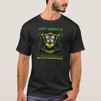Camiseta T-shirt feliz do jubileu do ouro de Jamaica 50