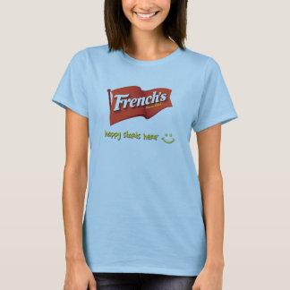 Camiseta T-shirt feliz dos começos do francês aqui