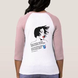 Camiseta T-shirt feminino 2 do Raglan dos líderes de Bella