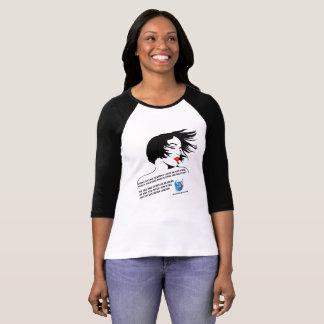 Camiseta T-shirt feminino do Raglan dos líderes de Bella