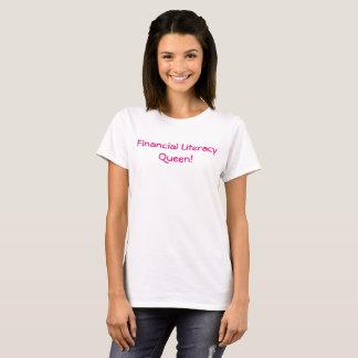 Camiseta T-shirt financeiro da rainha da instrução