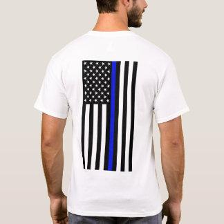 Camiseta T-shirt fino de Blue Line - traseiro