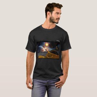 Camiseta T-shirt fino de Crewneck do algodão
