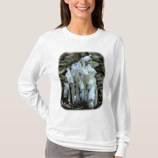 Camiseta T-shirt floral branco da natureza das tubulações