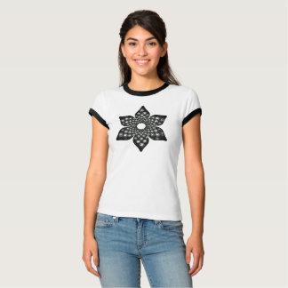 Camiseta T-shirt floral da mandala de Fibonacci