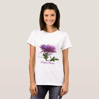 Camiseta T-shirt floral da paixão roxa bonito por Yotigo