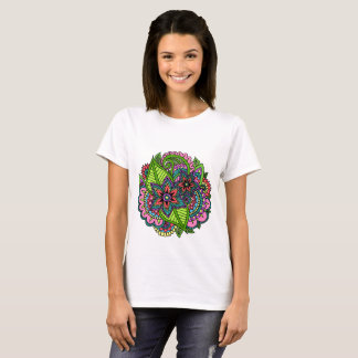 Camiseta T-shirt floral do Henna