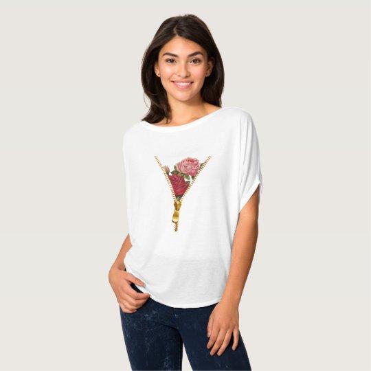 Camiseta T-shirt floral ziper