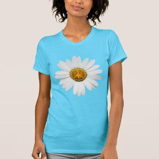 Camiseta T-shirt flower power do sinal de paz -