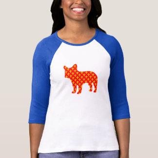 Camiseta T-shirt fluer de lis da silhueta do buldogue