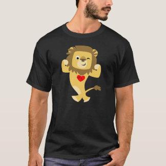 Camiseta T-shirt forte bonito do coração do leão dos