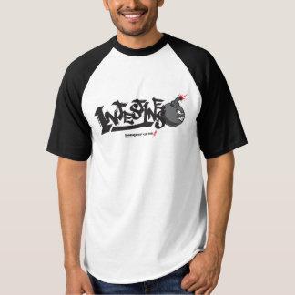Camiseta T-shirt fritado do Raglan dos homens dos