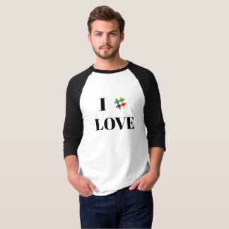 Camiseta T-shirt frouxo do Raglan da luva do fã 3/4