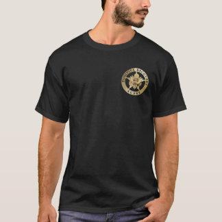 Camiseta T-shirt fugitivo do agente da recuperação (escuro)