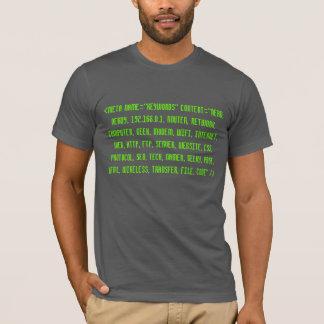 Camiseta T-shirt Geeky do código fonte do HTML