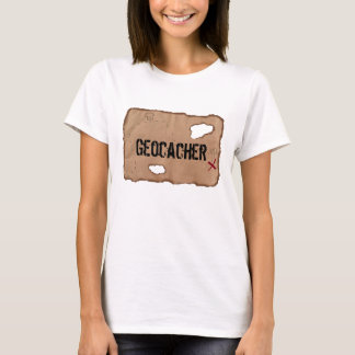 Camiseta T-shirt: Geocacher (mapa do tesouro)