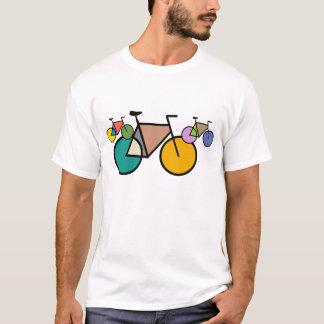 Camiseta T-shirt geométrico da arte da bicicleta