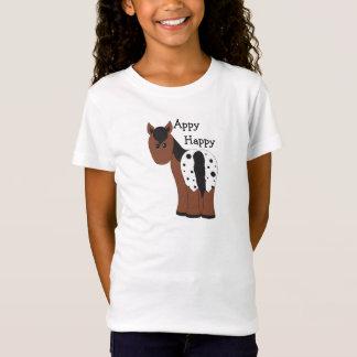 Camiseta T-shirt geral feliz do cavalo do Appaloosa de Appy