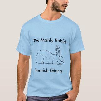 Camiseta T-shirt gigante flamengo do coelho dos homens