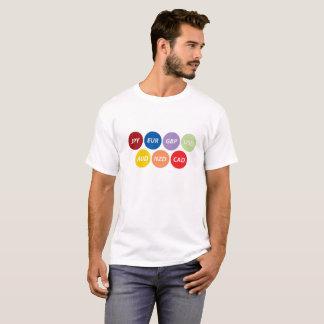 Camiseta T-shirt global dos símbolos de moeda