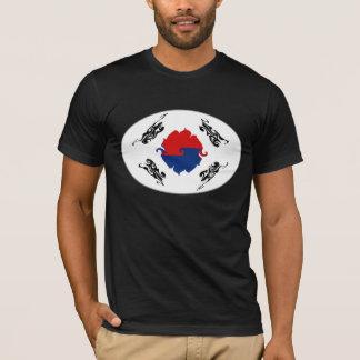 Camiseta T-shirt Gnarly da bandeira de Coreia do Sul