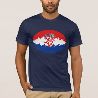 Camiseta T-shirt Gnarly da bandeira de Croatia