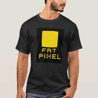 Camiseta T-shirt gordo do pixel