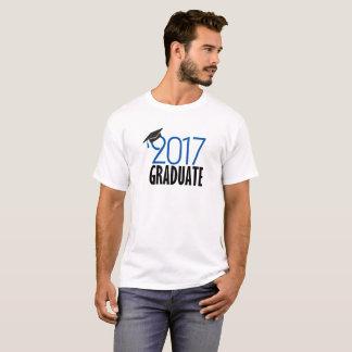 Camiseta T-shirt graduado preto & do azul 2017