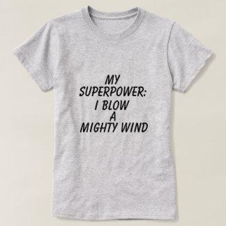 Camiseta T-shirt gráfico da superpotência das mulheres