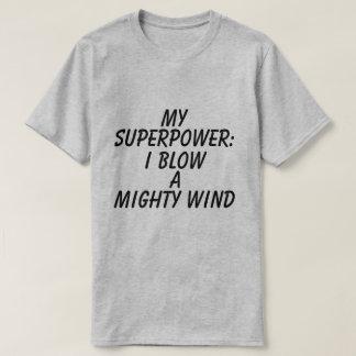 Camiseta T-shirt gráfico da superpotência dos homens